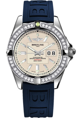 Breitling Watches - Galactic 41 Stainless Steel - Dia Bezel - Diver Pro III Strap - Deployant - Style No: A49350LA/G699-diver-pro-iii-blue-deployant