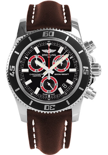 Breitling Watches - Superocean Chronograph M2000 Leather Strap - Style No: A73310A8/BB72-leather-brown-tang