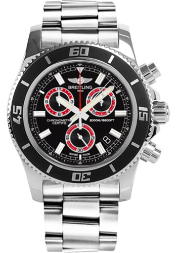 Breitling Watches - Superocean Chronograph M2000 Stainless Steel Bracelet - Style No: A73310A8/BB72-professional-steel