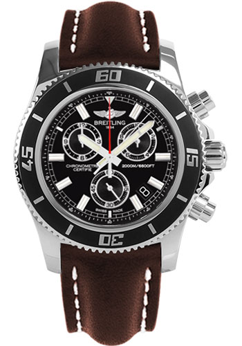 Breitling Watches - Superocean Chronograph M2000 Leather Strap - Style No: A73310A8/BB73-leather-brown-tang