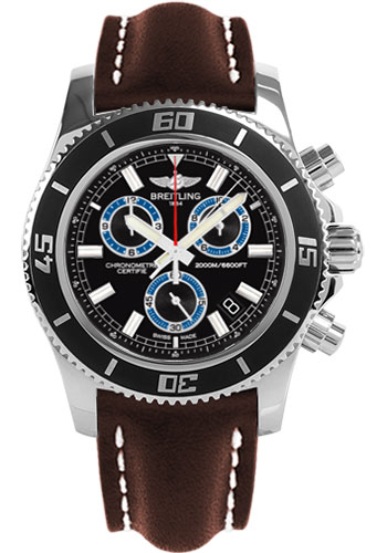 Breitling Watches - Superocean Chronograph M2000 Leather Strap - Style No: A73310A8/BB74-leather-brown-tang