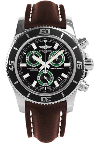 Breitling Watches - Superocean Chronograph M2000 Leather Strap - Style No: A73310A8/BB75-leather-brown-tang