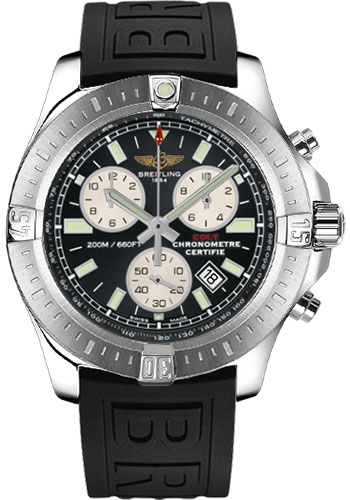 Breitling Watches - Colt Chronograph Diver Pro III Strap - Deployant - Style No: A7338811/BD43-diver-pro-iii-black-deployant