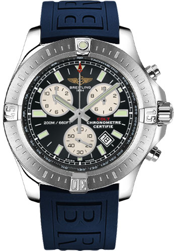 Breitling Watches - Colt Chronograph Diver Pro III Strap - Deployant - Style No: A7338811/BD43-diver-pro-iii-blue-deployant