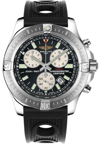 Breitling Watches - Colt Chronograph Ocean Racer Strap - Deployant - Style No: A7338811/BD43-ocean-racer-black-deployant