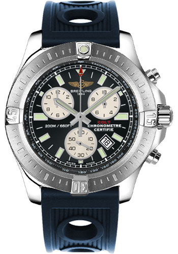 Breitling Watches - Colt Chronograph Ocean Racer Strap - Deployant - Style No: A7338811/BD43-ocean-racer-blue-deployant