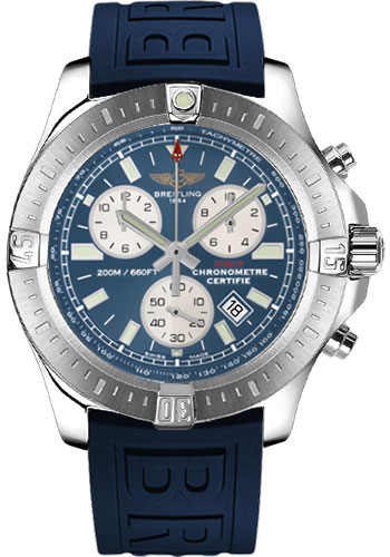 Breitling Watches - Colt Chronograph Diver Pro III Strap - Deployant - Style No: A7338811/C905-diver-pro-iii-blue-deployant