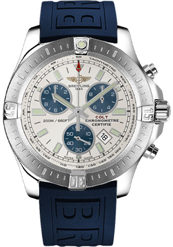 Breitling Watches - Colt Chronograph Diver Pro III Strap - Deployant - Style No: A7338811/G790-diver-pro-iii-blue-deployant