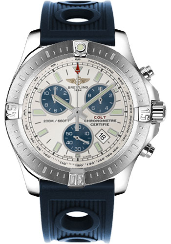 Breitling Watches - Colt Chronograph Ocean Racer Strap - Deployant - Style No: A7338811/G790-ocean-racer-blue-deployant