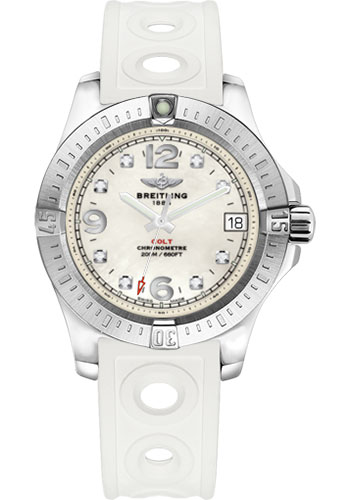 Breitling Watches - Colt 36 Ocean Racer II Strap - Tang - Style No: A7438911/A771-ocean-racer-ii-white-tang