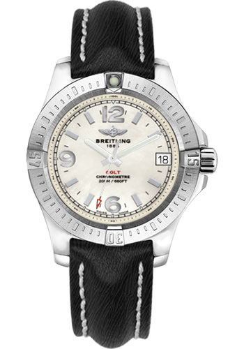 Breitling Watches - Colt 36 Sahara Strap - Black - Tang - Style No: A7438911/A772/213X/A16BA.1