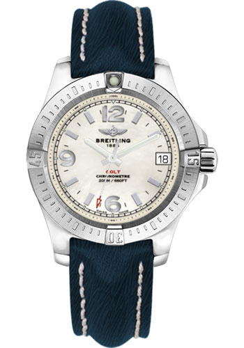 Breitling Watches - Colt 36 Sahara Strap - Mariner Blue - Deployant - Style No: A7438911/A772-sahara-mariner-blue-deployant
