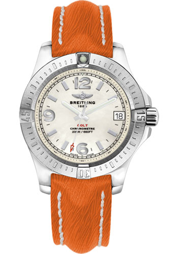 Breitling Watches - Colt 36 Sahara Strap - Orange - Deployant - Style No: A7438911/A772/257X/A16D.1