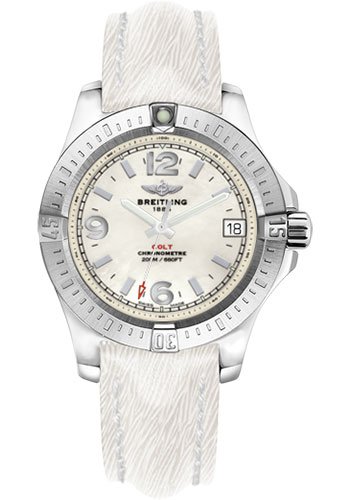 Breitling Watches - Colt 36 Sahara Strap - White - Deployant - Style No: A7438911/A772-sahara-white-deployant