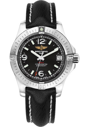 Breitling Watches - Colt 36 Sahara Strap - Black - Deployant - Style No: A7438911/BD82/249X/A16D.1