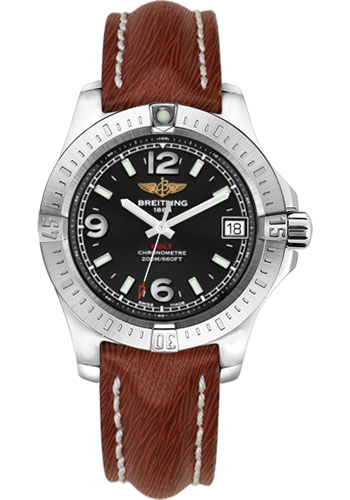 Breitling Watches - Colt 36 Sahara Strap - Brown - Tang - Style No: A7438911/BD82/216X/A16BA.1