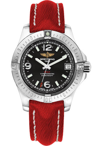 Breitling Watches - Colt 36 Sahara Strap - Red - Tang - Style No: A7438911/BD82-sahara-red-tang