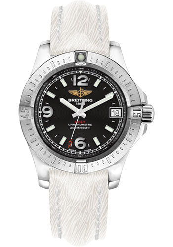 Breitling Watches - Colt 36 Sahara Strap - White - Deployant - Style No: A7438911/BD82-sahara-white-deployant