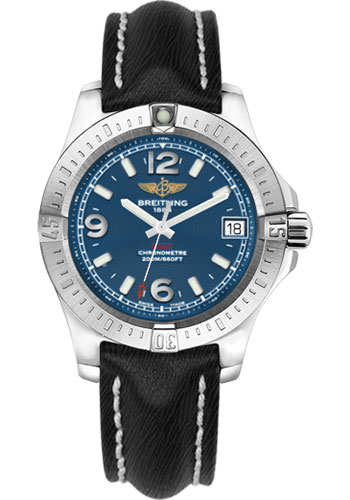 Breitling Watches - Colt 36 Sahara Strap - Black - Deployant - Style No: A7438911/C913-sahara-black-deployant
