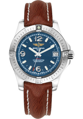 Breitling Watches - Colt 36 Sahara Strap - Brown - Tang - Style No: A7438911/C913/216X/A16BA.1