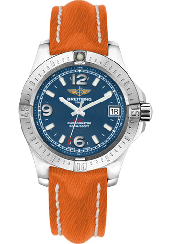 Breitling Watches - Colt 36 Sahara Strap - Orange - Deployant - Style No: A7438911/C913/257X/A16D.1