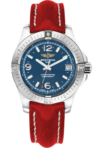 Breitling Watches - Colt 36 Sahara Strap - Red - Tang - Style No: A7438911/C913-sahara-red-tang