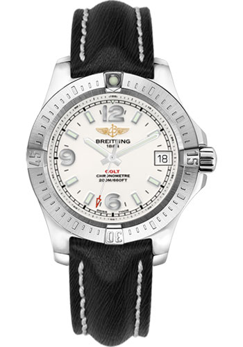 Breitling Watches - Colt 36 Sahara Strap - Black - Tang - Style No: A7438911/G803/213X/A16BA.1