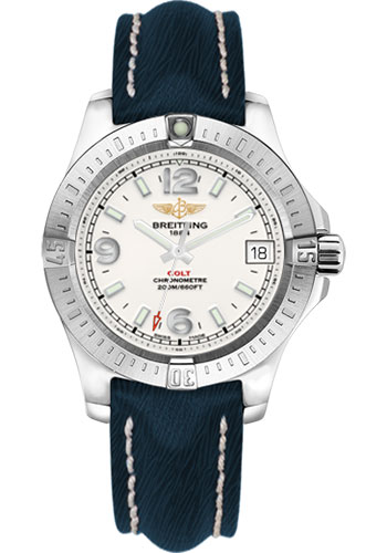 Breitling Watches - Colt 36 Sahara Strap - Mariner Blue - Deployant - Style No: A7438911/G803/256X/A16D.1