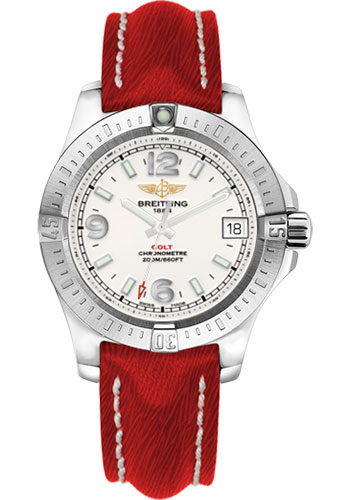 Breitling Watches - Colt 36 Sahara Strap - Red - Tang - Style No: A7438911/G803-sahara-red-tang