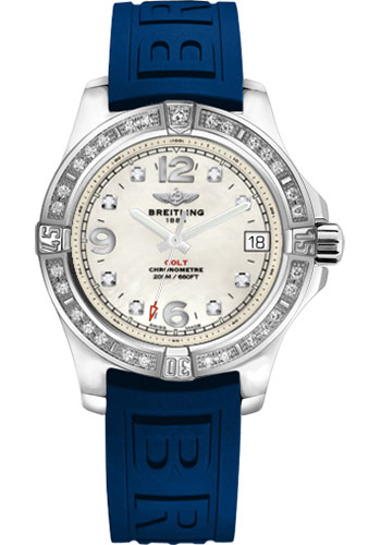 Breitling Watches - Colt 36 Diamond Bezel - Diver Pro III Strap - Tang - Style No: A7438953/A771-diver-pro-iii-blue-tang