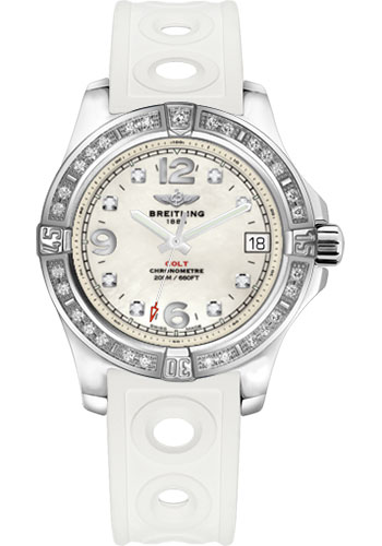 Breitling Watches - Colt 36 Diamond Bezel - Ocean Racer II Strap - Tang - Style No: A7438953/A771/230S/A16S.1