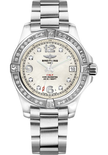 Breitling Watches - Colt 36 Diamond Bezel - Professional III Bracelet - Style No: A7438953/A771/178A