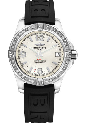 Breitling Watches - Colt 36 Diamond Bezel - Diver Pro III Strap - Tang - Style No: A7438953/A772-diver-pro-iii-black-tang