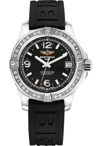 Breitling Watches - Colt 36 Diamond Bezel - Diver Pro III Strap - Tang - Style No: A7438953/BD82-diver-pro-iii-black-tang
