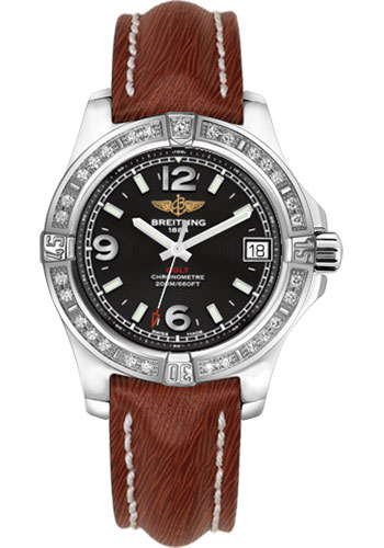 Breitling Watches - Colt 36 Diamond Bezel - Sahara Strap - Brown - Deployant - Style No: A7438953/BD82-sahara-brown-deployant