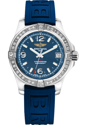 Breitling Watches - Colt 36 Diamond Bezel - Diver Pro III Strap - Tang - Style No: A7438953/C913-diver-pro-iii-blue-tang