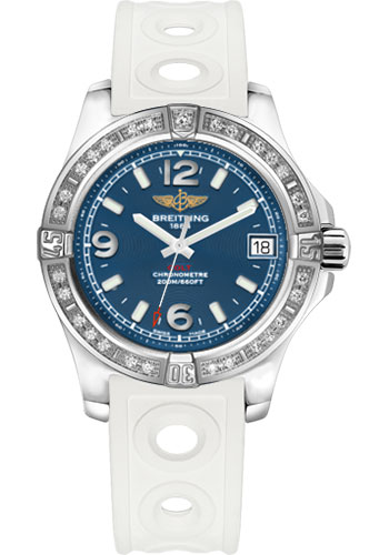 Breitling Watches - Colt 36 Diamond Bezel - Ocean Racer II Strap - Tang - Style No: A7438953/C913-ocean-racer-ii-white-tang