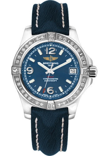 Breitling Watches - Colt 36 Diamond Bezel - Sahara Strap - Mariner Blue - Deployant - Style No: A7438953/C913-sahara-mariner-blue-deployant