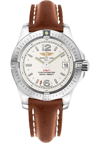 Breitling Watches - Colt Lady Leather Strap - Tang - Style No: A7738811/G793-leather-gold-tang