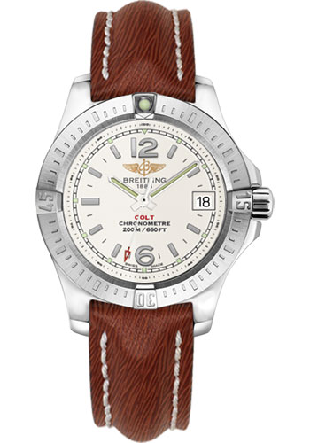 Breitling Watches - Colt Lady Sahara Leather Strap - Tang - Style No: A7738811/G793-sahara-brown-tang