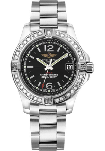 Breitling Watches - Colt Lady Diamond Bezel - Professional III Bracelet - Style No: A7738853/BD46-professional-iii-steel
