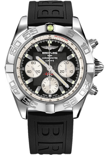Breitling Watches - Chronomat 44 Steel Polished Bezel - Diver Pro III Strap - Tang - Style No: AB011012/B967-diver-pro-iii-black-tang