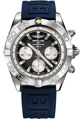 Breitling Watches - Chronomat 44 Steel Polished Bezel - Diver Pro III Strap - Tang - Style No: AB011012/B967-diver-pro-iii-blue-tang