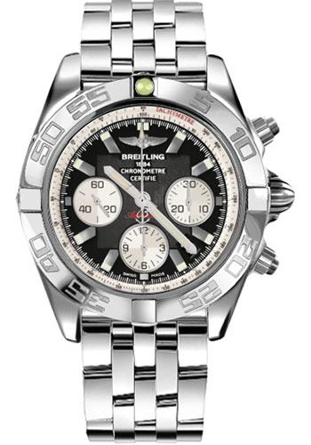 Breitling Watches - Chronomat 44 Steel Polished Bezel - Pilot Bracelet - Style No: AB011012/B967-pilot-steel