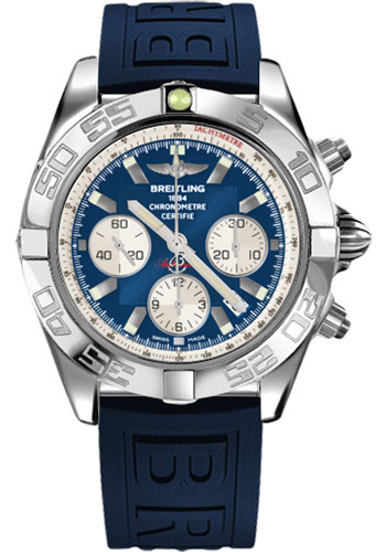 Breitling Watches - Chronomat 44 Steel Polished Bezel - Diver Pro III Strap - Tang - Style No: AB011012/C788-diver-pro-iii-blue-tang