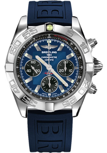 Breitling Watches - Chronomat 44 Steel Polished Bezel - Diver Pro III Strap - Tang - Style No: AB011012/C789-diver-pro-iii-blue-tang