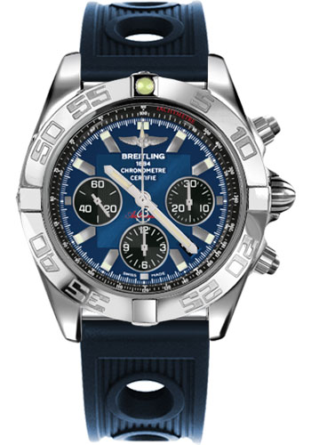 Breitling Watches - Chronomat 44 Steel Polished Bezel - Ocean Racer Strap - Deployant - Style No: AB011012/C789-ocean-racer-blue-deployant