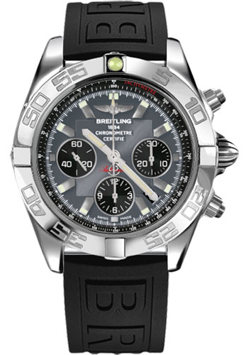 Breitling Watches - Chronomat 44 Steel Polished Bezel - Diver Pro III Strap - Tang - Style No: AB011012/F546-diver-pro-iii-black-tang