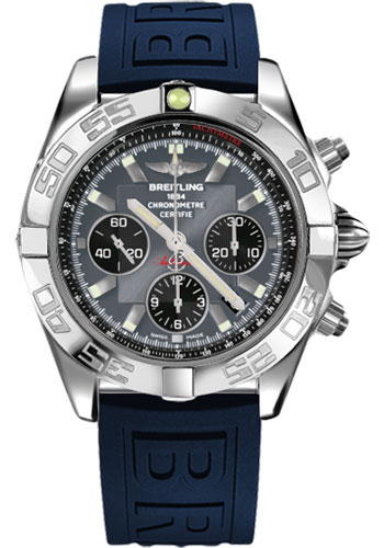 Breitling Watches - Chronomat 44 Steel Polished Bezel - Diver Pro III Strap - Deployant - Style No: AB011012/F546-diver-pro-iii-blue-deployant