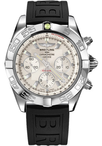Breitling Watches - Chronomat 44 Steel Polished Bezel - Diver Pro III Strap - Tang - Style No: AB011012/G684-diver-pro-iii-black-tang